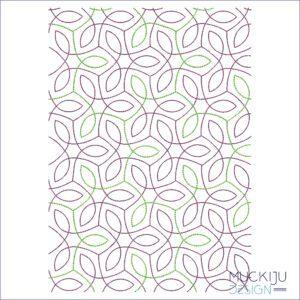 Fullcover Stickdatei Swirl Muckiju