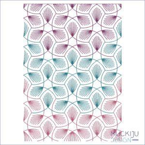 Fullcover Stickdatei Tricolor Muckiju